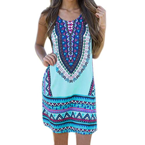 TOTOD Women White Dress New Women Summer Casual Deep V-Neck Traditional African Print Party Dresses