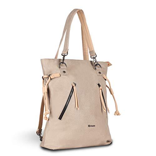 Sherpani Tempest, Convertible Backpack Tote, Fashion Shoulder Bag, Tote Bag, Stylish Backpack Handbag, Casual Handbag, Cotton Canvas Backpack for Women Fits 15 Inch Laptop (Natural)