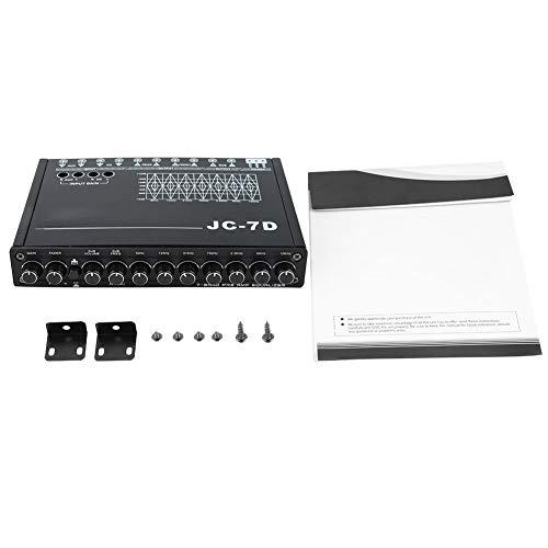 Car Digital Equalizer, Car 7 Bands Audio Bass Restoration Digital Equalizer Audio Control JC-7D