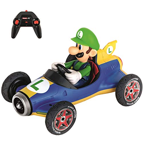 Carrera RC Official Licensed Mario Kart Mach 8 Luigi 1: 18 Scale 2.4 Ghz Remote Radio Control Car with Rechargeable Lifepo4 Battery - Kids Toys Boys/Girls, (Model: 181067)