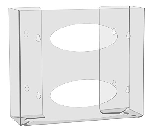 TrippNT 51144 Double Two Faced Glove Box Holder, 11' W x 10' H x 3-1/2' D, Clear