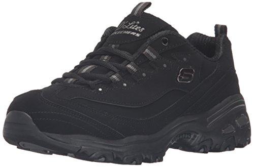 Skechers D'Lites - Play On Black 10 C - Wide