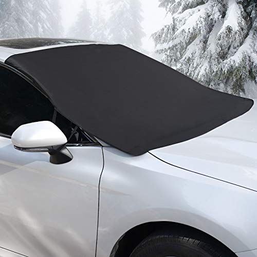 Coindivi Car Windshield Snow Cover for Ice, Trucks, SUV, Winter Snow Shield Car Window, Magnetic Waterproof Oxford Wiper Protector, All Weather Car Cover