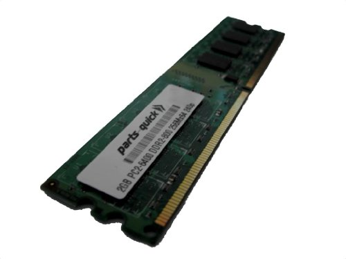 2GB Memory for MSI Motherboard G41TM-E43 DDR2 PC2-6400 800MHz DIMM NON-ECC RAM UPGRADE (PARTS-QUICK BRAND)
