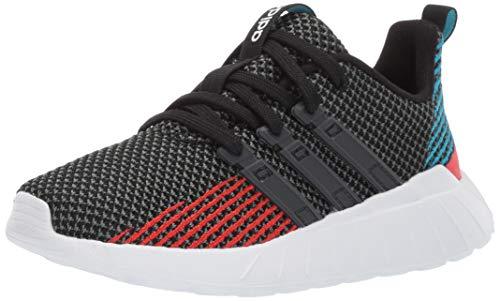 adidas Kids Unisex's Questar Flow Running Shoe, Black/Grey/Active red, 6 M US Big Kid