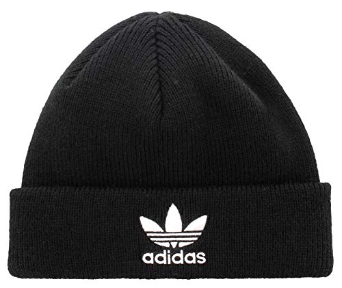 adidas Originals Men's Trefoil Beanie, Black/White, ONE SIZE