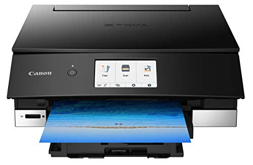 Canon TS8220 Wireless All in One Photo Printer with Scannier and Copier, Mobile Printing, Black, Amazon Dash Replenishment Ready