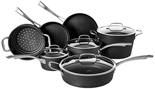 Cuisinart Conical Hard Anodized Cookware Set, Medium, Black