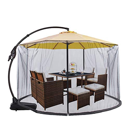 Umbrella Net, Fits 9-11 ft Umbrellas, Mosquito Netting Table Screen for Outdoor Patio
