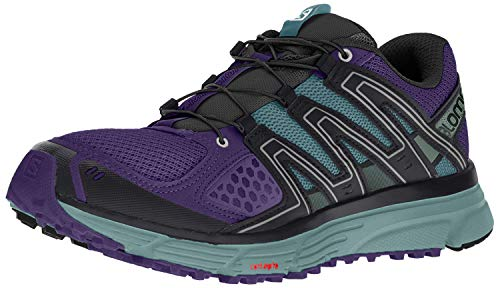 Salomon Women's X-Mission 3 W Trail Running Shoe, parachute purple/trellis/black, 5 B US