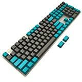 PBT Keycaps Side/Front Print Cherry MX Key Caps Non-backlit Blue Gray Key Set with Keycaps Puller for 87/104/108 MX Switches ANSI Mechanical Gaming Keyboard