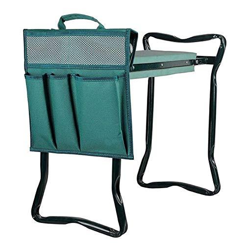 Garden Tool Bag Gabriely Garden Kneeler Tool Oxford Bags Bucket Tool Organizers for Indoor and Outdoor Gardening 12.2x11.8 Inch with Handle for Kneeling Chair Garden Tool Bag,Green