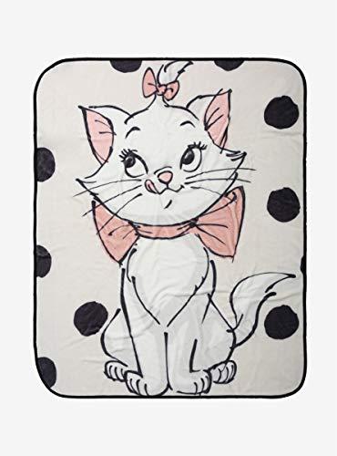 Disney The Aristocats Marie Polka Dots Plush Throw Blanket MULTI One Size