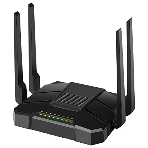 【Newest 2021】 Smart WiFi Router Dual Band Gigabit Wireless Internet Router for Home AC1200 High Speed Internet Router with USB 2.0 & SD Card Slot VPN Server Firewall Parental Control