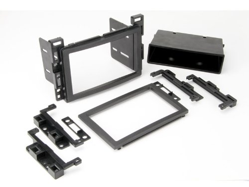 SCOSCHE GM2500B Compatible with Select 2005-Up GM ISO Double DIN & DIN+Pocket Dash Kit Black