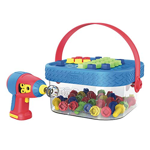 Educational Insights Design & Drill Bolt-It Bucket, Portable, Travel Friendly Drill Toy Set