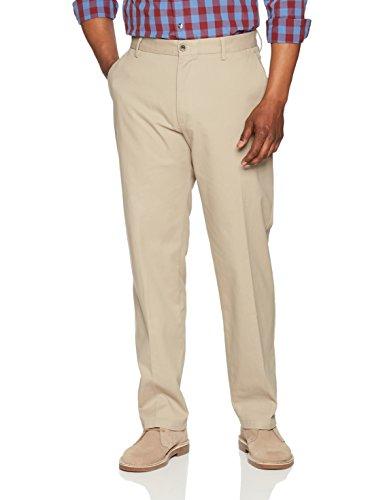 Amazon Essentials Men's Classic-Fit Wrinkle-Resistant Flat-Front Chino Pant, Khaki, 32W x 30L