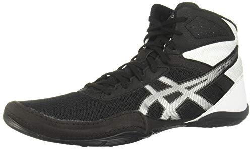 ASICS Men's Matflex 6 Wrestling Shoes, 6.5, Black/Silver