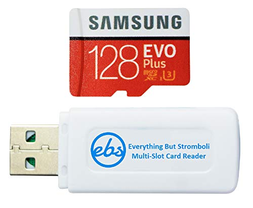 Samsung 128GB Evo Plus Micro SDXC Memory Card Works with Canon Ivy CLIQ 2, Ivy CLIQ+ 2 Instant Camera, Ivy REC Action Camera (MB-MC128) Bundle with 1 Everything But Stromboli MicroSD & SD Card Reader