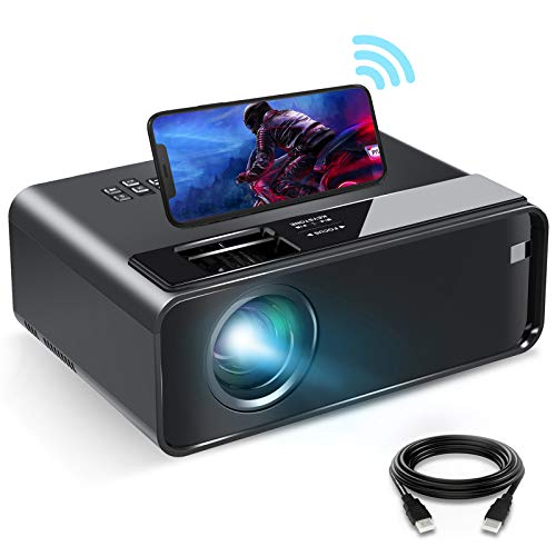 Mini Projector for iPhone, ELEPHAS 2021 Upgrade WiFi Movie Projector with Synchronize Smartphone Screen, 1080P HD Portable Projector Supported 200' Screen, Compatible with Android/iOS/HDMI/USB/SD/VGA