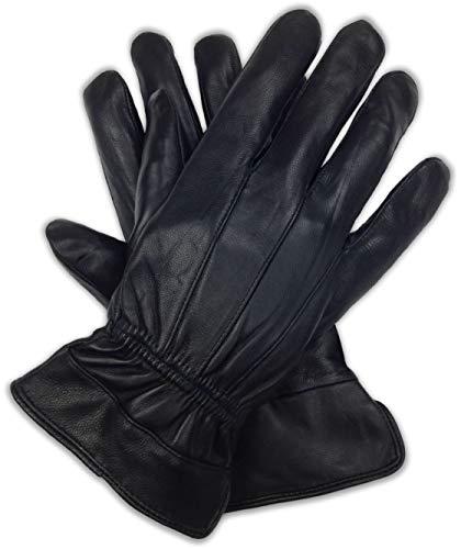Bleu Nero Luxury Soft Men's Nappa Sheepskin Genuine Leather with 3M Thinsulate Gloves (Original, Medium)