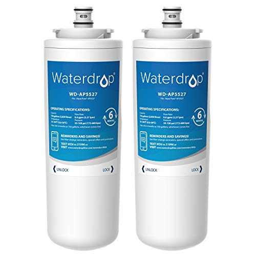 Waterdrop AP5527 Reverse Osmosis Pre and Post Water Filter Cartridge, Compatible with Aqua-Pure AP5527, 5598101, AP-RO5500, APRO5500 Reverse Osmosis System (2 Set)