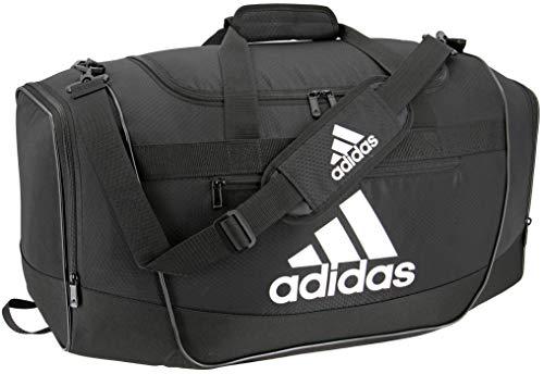 adidas Defender III medium duffel Bag, Black/White, One Size