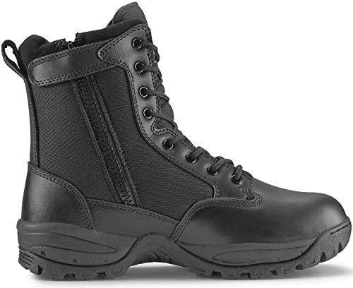 Maelstrom Men's TAC FORCE 8 Inch Military Tactical Duty Work Boot with Zipper, Black, 11 W US