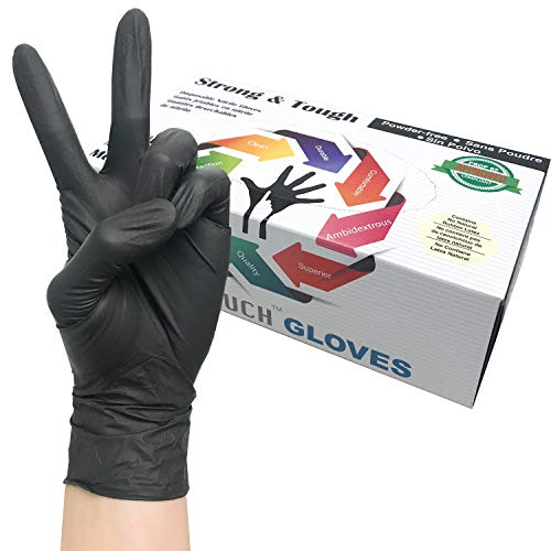 Heavy Duty Nitrile Gloves, Infi-Touch Strong & Tough, High Chemical Resistant, Disposable Gloves, Powder-Free, Non Sterile, 100 Gloves (Medium)