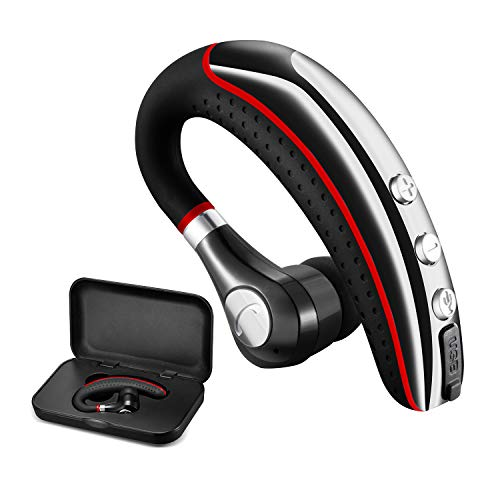Bluetooth Headset,Wireless v5.0 Business Bluetooth Earpiece in Ear Lightweight Sweatproof Earphones with Mic Work for Cell Phones for Office/Workout/Driving