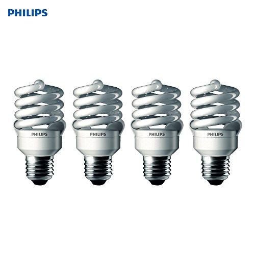 Philips LED 433557 Energy Saver Compact Fluorescent T2 Twister (A21 Replacement) Household Light Bulb: 6500-Kelvin, 23-Watt (100-Watt Equivalent), E26 Medium Screw Base, Daylight Deluxe, 4-Pack
