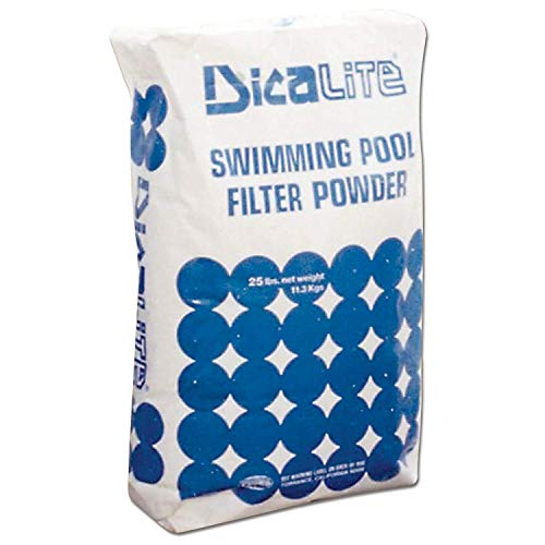 Dicalite Minerals DicaLite-50A DicaLite-50B Diatomaceous Earth Pool Filter 50 lbs, 3-5 microns in Size, White