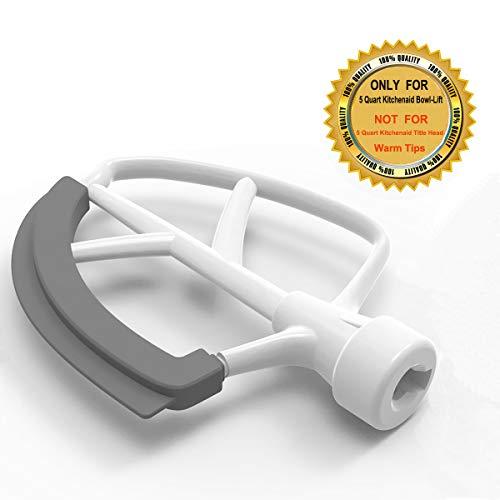 5 Quart Flex Edge Beater for KitchenAid 5QT Bowl-lift Stand Mixer Accessory Replacement Paddle Compatible with KitchenAid Mixer Attachments with Silicone Edge Bowl Scraper