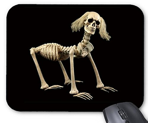 Mouse Mat Halloween Cool Shadow Dog Skeleton Pattern Mouse Pad 11.8X9.8 Inxh