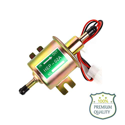 Electric Fuel Pump 12v Universal Low Pressure Gas Diesel Gasoline Inline Fuel Pump for Lawn Mower Carburetor 2.5-4psi