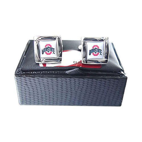 NCAA Ohio State Buckeyes Square Cuff LinksSquare Cuff Links, Team Color, 4