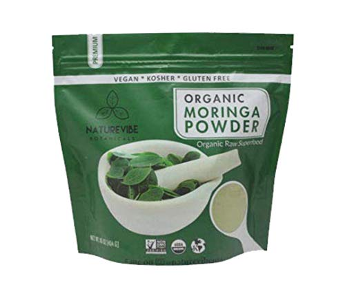Organic Premium Moringa Powder by Naturevibe Botanicals (1 Lb), Non GMO Verified and Gluten Free | Multi-Vitamin | Great in Drinks and Smoothies | Supports Weight Loss.