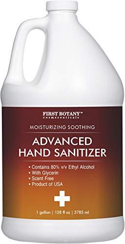 Hand Sanitizer 80 Percent Alcohol - (Non-Gel) Hand Sanitizing formula 1 Gallon Made in USA