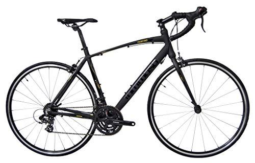 Tommaso Fascino - Sport Performance Aluminum Road Bike, Shimano Tourney, 21 Speeds - Black/Yellow - XXS