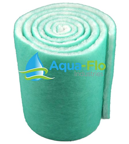 Aqua-Flo 12' Pond & Aquarium Filter Media, 72' (6 Feet) Long x 1' Thick (Green/White)