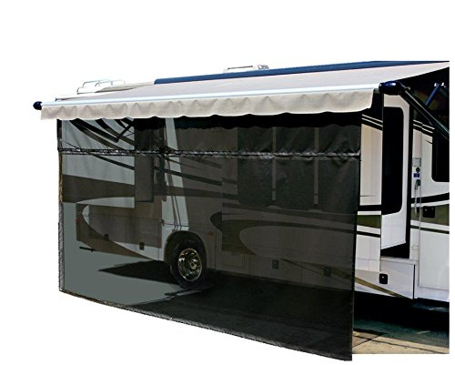 Carefree 701009 Black 10' x 9' Drop RV Awning EZ ZipBlocker