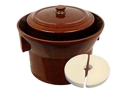 5 L (1.3 Gal) K&K Keramik German Made Fermenting Crock Pot Kerazo FORM_1
