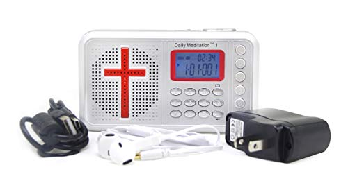 Daily Meditation 1 NLT Audio Bible Player - New Living Translation Electronic Bible (with Rechargeable Battery, Charger, Ear Buds and Built-in Speaker)