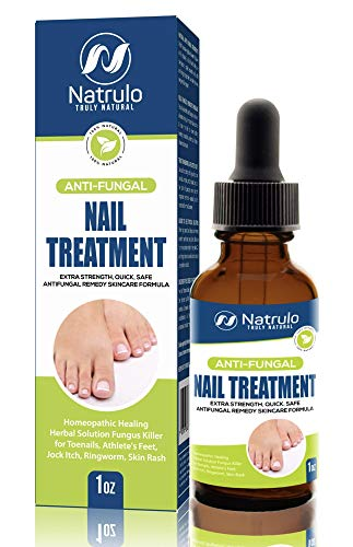 Natural Anti Fungal Nail Treatment Extra Strength Liquid Drops – Homeopathic Healing Herbal Fungus Killer for Toenails, Athlete's Feet, Jock Itch, Ringworm, Skin Rash – Quick, Safe Antifungal Remedy