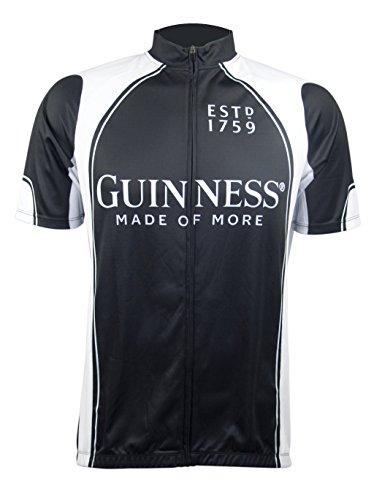Guinness Full Zip Performance Cycling Jersey (Large) Black