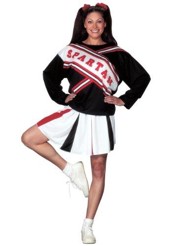 Spartan Cheerleader Costume Standard Black