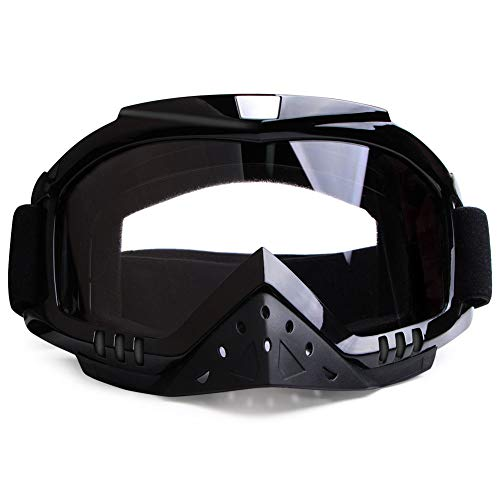 Motorcycle Goggles Motocross Goggles Grip For Helmet Dmeixs Windproof Dustproof Anti Fog Helmet Goggles for ATV Off Road Racing with Cool Look Headwear Clear Lens