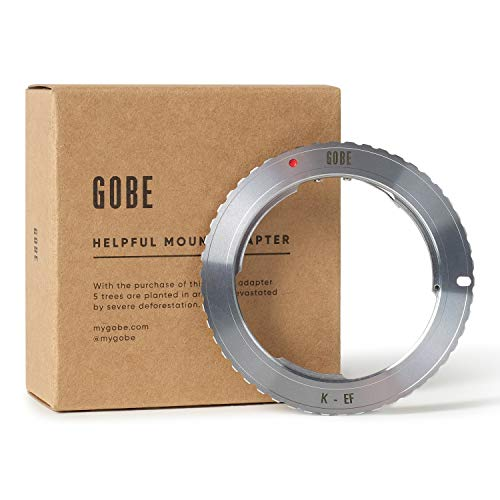 Gobe Lens Mount Adapter: Compatible with Pentax K Lens and Canon EOS EF-S Camera Body
