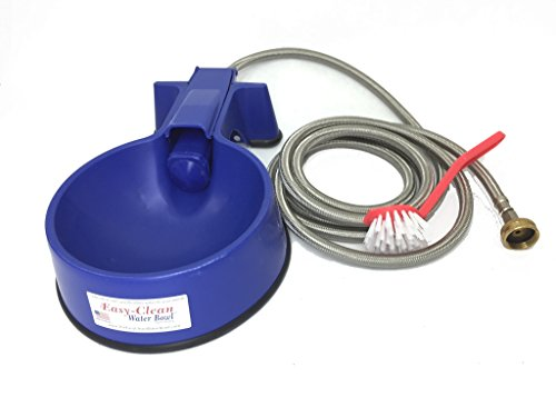 Easy-Clean Water Bowl Water Bowl with 10 foot Long Stainless Steel Hose