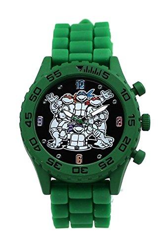 Teenage Mutant Ninja Turtles TMNT Group Shot Green Rubber Strap Watch (Tmn9046)